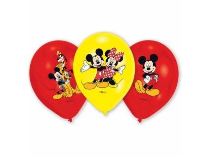 Balónky 6 ks extra - Mickey Mouse