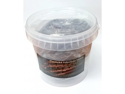Plastická čokoláda 1 kg - tmavá