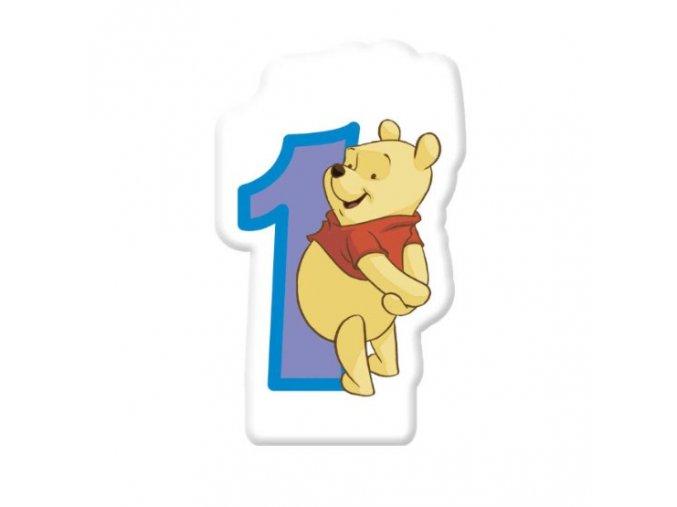 Dortová svíčka Medvídek POOH s číslem - 1