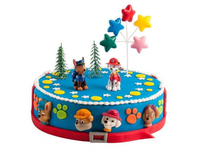 Sada figurek na dort - Tlapková Patrola
