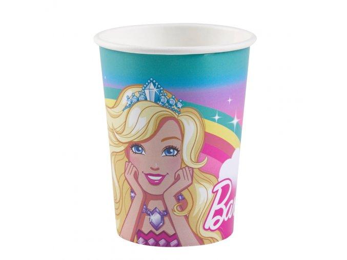 Kelímky 8 ks - Barbie s korunkou na hlavě
