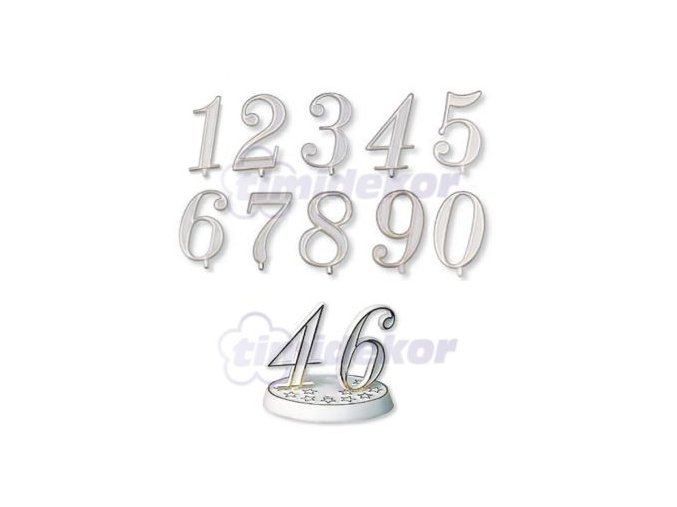 Číslice plastová - 3 - 10 ks