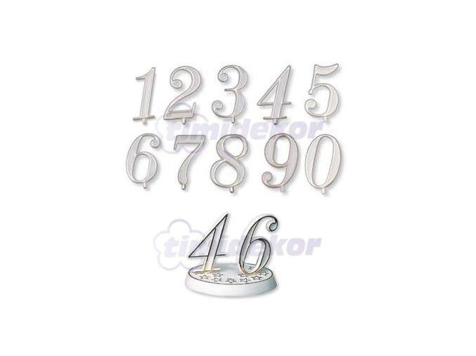 Číslice plastová - 4 - 10 ks
