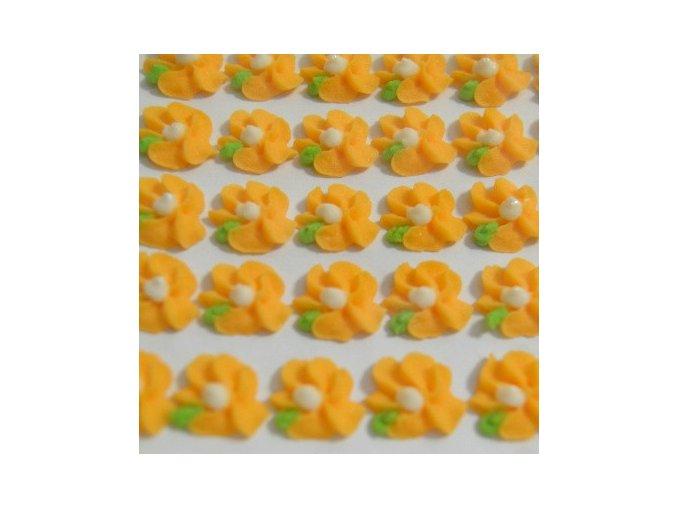 Cukrové ozdoby Timidekor - kytičky oranžové