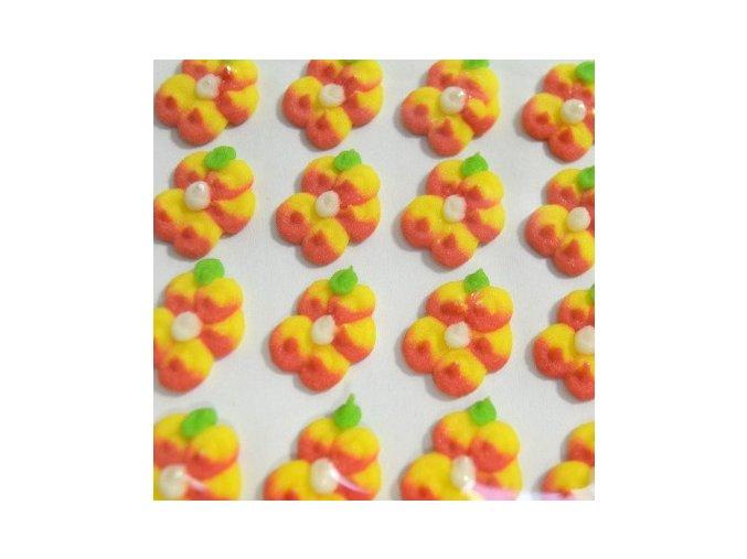 Cukrové ozdoby Timidekor - žíhané žluté