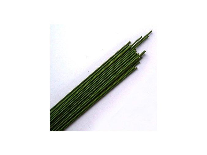 Drát opředený č.24 - zelený