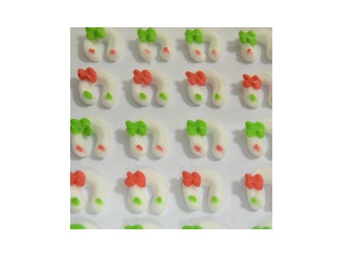 Cukrové ozdoby Timidekor - podkovy bílé
