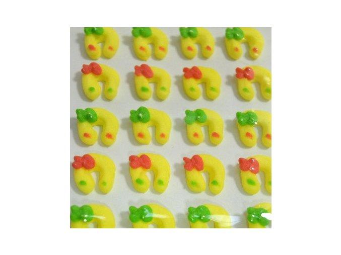 Cukrové ozdoby Timidekor - podkovy žluté