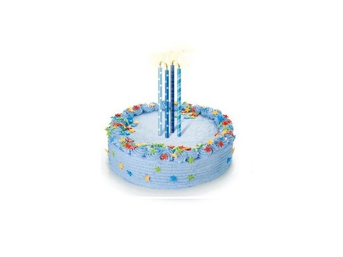 Dortové svíčky DELÍCIA 16 ks - modré