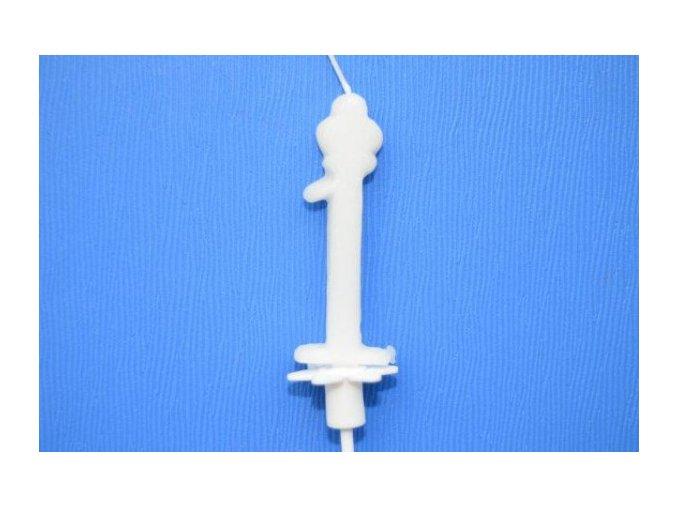 Dortová svíčka číslice bílá - 1