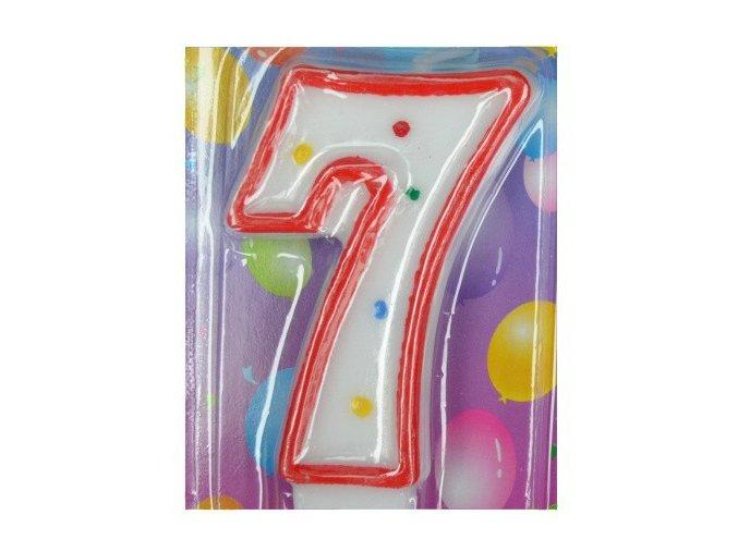 Svíčka číslice BAREVNÁ - 7