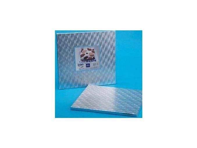 Stříbrný tác SILNÝ hranatý - 43x43 cm