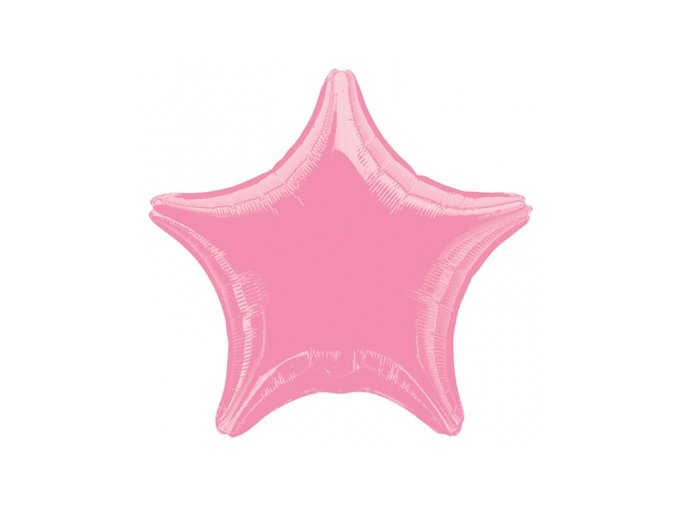 Balónek fóliový velký - hvězda růžová