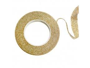 Floristická páska PME - třpytivá - zlatá