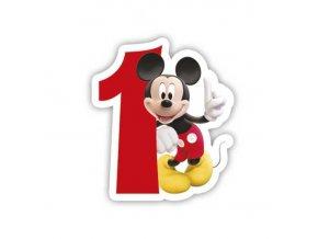Dortová svíčka Mickey Mouse s číslem - 1