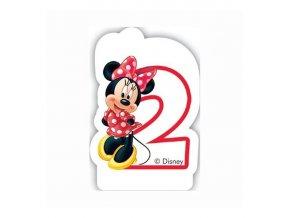 Dortová svíčka MINNIE Mouse s číslem - 2