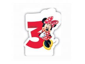 Dortová svíčka MINNIE Mouse s číslem - 3