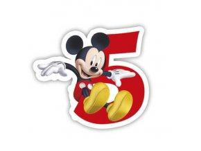 Dortová svíčka Mickey Mouse s číslem - 5
