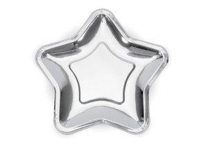 talíř hvězda silver