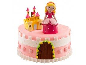 Sada figurek na dort - Princezna a zámek