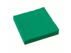 Ubrousky 20 ks - tmavě zelené