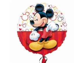 Foliový balónek kulatý - Mickey Mouse