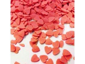 Červená cukrová srdíčka - balení 250g