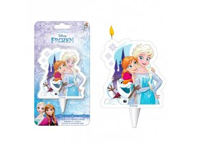 display 12 velas 2d elsa anna olaf