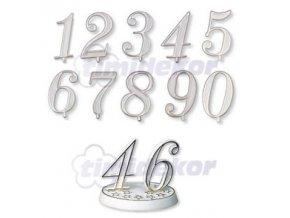 Číslice plastová - 6 - 10 ks