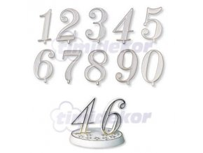 Číslice plastová - 0 - 10 ks