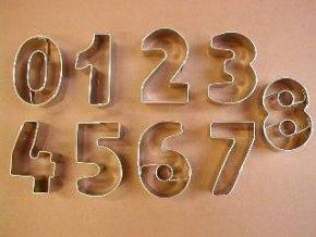 Vykrajovátka nerez - číslice