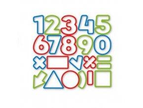 Číslice DELÍCIA KIDS, 21 ks