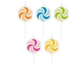 Dortové svíčky 5ks - větrníky