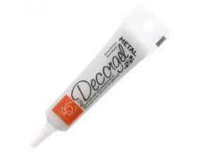 Decor gel metalický - bílý