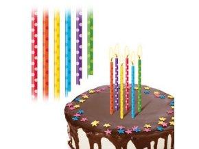 Svíčky velké Delícia 12 ks - puntíky