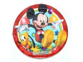 Party talíře 8 ks - Mickey Mouse