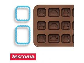 Formičky na čokoládu s vykrajovátky - autíčka