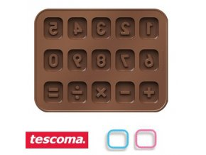 Formičky na čokoládu s vykrajovátky - číslice