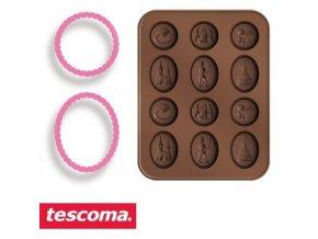 Formičky na čokoládu s vykrajovátky - pohádka