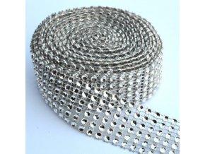 Diamantový pás 3 cm - stříbrný