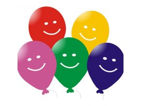 Balónky 5 ks - Smajlíci mix barev