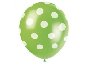 Balónky s puntíky 6 ks - zelené