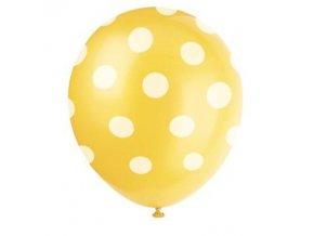 Balónky s puntíky 6 ks - žluté
