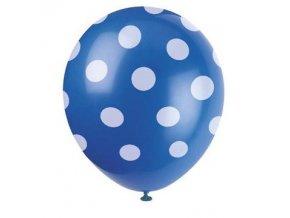 Balónky s puntíky 6 ks - modré
