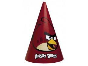 Párty čepičky 6  ks - Angry Birds