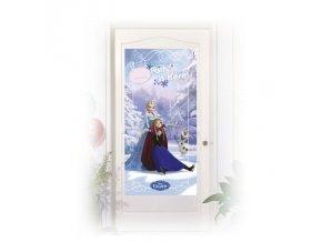 Plakát na dveře - Frozen na bruslích
