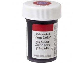 Gelová barva Wilton 28g - červená CHRISTMAS
