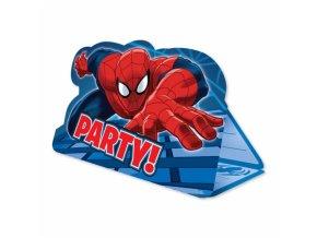 Pozvánky na párty 8 ks - Spiderman