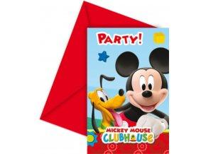Pozvánky na párty 6 ks - Mickey Mouse