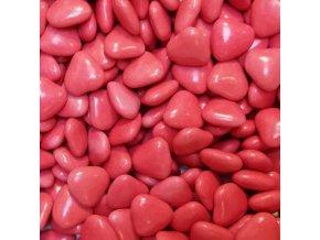 Červená čoko srdíčka - 20 g